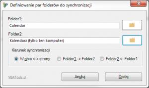 Synchroznizacja_folderow_Definiowanie